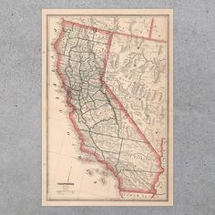 California State Map 1883