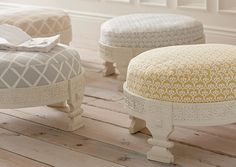Shop the Serena & Lily seating collection today & discover designer benches, short stools & Moroccan leather poufs for every room in your home. Pouf Design, Kids Seating, Floor Seating, Living Room Seating, Interior Decorating, Interior Design, White Rooms, Home Furniture, Furniture Design