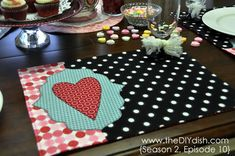 Valentine's Day Placemat How-to...super cute!