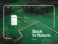 Agricultural Development Company 'Back to Nature' designed by Pavel Naumov. Connect with them on Dribbble; the global community for designers and creative professionals. Web Layout, Layout Design, Website Layout, Branding, Agricultural Development, Sports Website, Identity, Web Design Inspiration, Sustainable Design