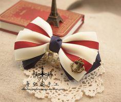 simple patriotic bow idea
