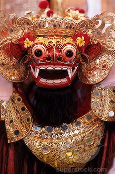 Indonesian Masks | INDONESIA, BALI, BARONG DANCE, BARONG MASK | Stock Photo 4163-10517 ...