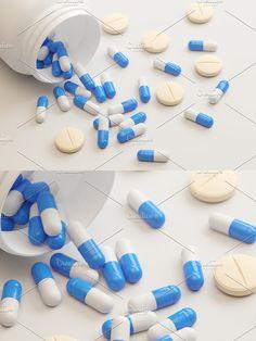 Container Design, Pills, Illustration, Illustrations