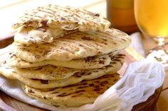 This Robertsons recipe is straightforward and very simple to make. Home made flatbread is a braai favourite, try this delicious Biltong Flat Bread recipe. Baking Recipes, Dessert Recipes, Desserts, My Favorite Food, Favorite Recipes, Braai Recipes, Biltong, South African Recipes, Grass Fed Beef