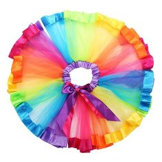 Rainbow Skirts Girl Clothing Summer Color Girls Clothes Colorful Kids Tutu Skirt Princess Party Petticoat Pettiskirt WholeSale - Kid Shop Global - Kids & Baby Shop Online - baby & kids clothing, toys for baby & kid Tutu Skirt Kids, Kids Tutu, Tutus For Girls, Baby Girls, Tutu Skirts, Girl Skirts, Kids Girls, Tutu En Tulle, Ribbon Tutu