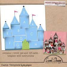 Image result for scrapbook layouts disney castle