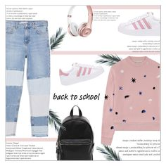 """Go Back-to-School Shopping!"" by katu11 ❤ liked on Polyvore featuring MANGO, Être Cécile, French Connection, adidas Originals and BackToSchool"