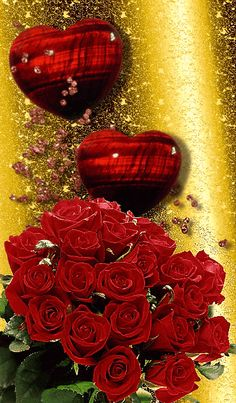 Love Heart Gif, Love Heart Images, Love You Images, Beautiful Flowers Pictures, Beautiful Red Roses, Beautiful Gif, Roses Gif, Flowers Gif, Good Morning Beautiful Pictures