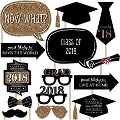 Costume Accessories Fun Express Costume Props 12 Pieces Apparel Accessories Graduation Grad Most Likely Photo Props for Graduation