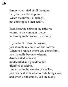 16 Tao Te Ching - Lao Tse (Lao Tzu)