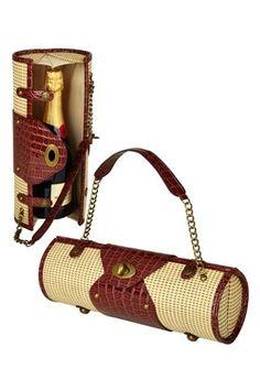 Ooh, a fancy wine bottle purse!
