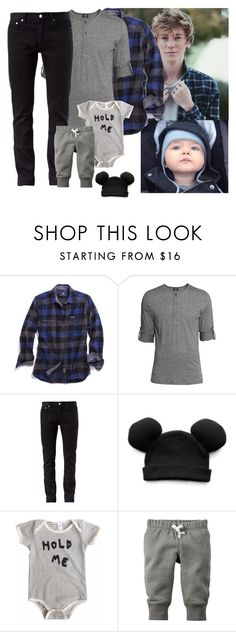 """""""Meeting her family ~Damian"""" by violet-di-angelo ❤ liked on Polyvore featuring Madewell, H&M, BLK DNM, Trumpette, men's fashion and menswear"""