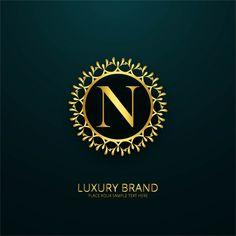 Luxury letter n logo Free Vector Atheist Symbol, Letter K Font, Photo Collage Design, Clothing Brand Logos, Stylish Alphabets, Family Logo, Makeup Artist Logo, Special Images, Free Logo