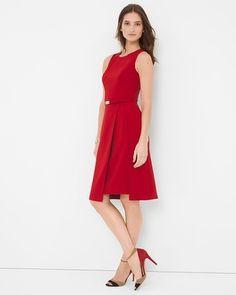 White House   Black Market Double Layer A-Line Dress