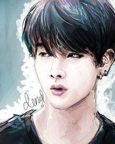 BTS Jin Fanart not my art