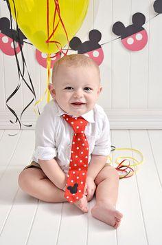 Little Boy Mickey Mouse Tie Little Boy Red Tie by edynsgarden, $8.50