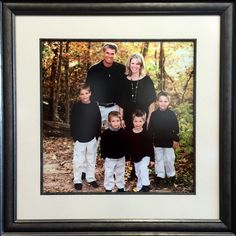 Don't they look great? Our customers added a dark fillet to this design to elevate the look and give the piece more depth. Well done! #Family #Portrait