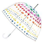 totes Clear Bubble Umbrella with Primary Dots