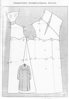 Ladies' Motor Coat! Mid to late 1910s, with complete instructions in three languages.