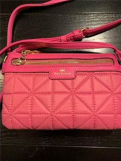 360a76482 Juicy Couture Crown Jewel Pink Logo Quilted Crossbody Bag #JuicyCouture  #crossbodybagsjuicycouture