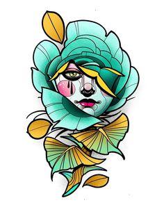 Flower Tattoo Drawings, Tattoo Design Drawings, Art Drawings, Tattoo Designs, Sharpie Tattoos, Dot Tattoos, Art Base, Neo Traditional Tattoo, Anime Art Girl