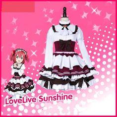 LoveLive!Sunshine!! Kurosawa Ruby Maid Cosplay Costume Custom Made Full Set #Unbranded