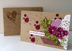 Creations by Jolan, Stampin' Up! Cool Cards, Diy Cards, Stampin Up Karten, Stamping Up Cards, Heart Cards, Copics, Creative Cards, Flower Cards, Scrapbook Cards
