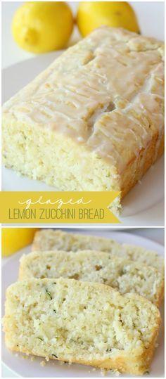 Delicious Glazed Lemon Zucchini Bread recipe. I'm going to substitute a box of lemon cake mix. Yummy!!!!