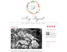 Amy Fitzgerald Blogger Template $30 #blogger #template Blog Design, Web Design, Blogger Tips, Blogger Templates, Wordpress Theme, Amy, Blogging, Marketing, Ideas