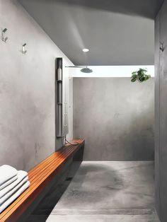 concreto em banheiro