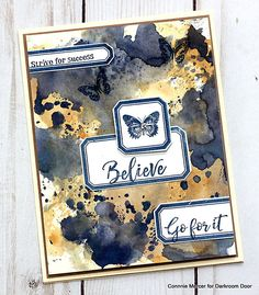 Card by Connie Mercer using Darkroom Door Dream Big Sentiments Stamp, Lots of Labels Stamp Set and Distress Oxide Inks Strive For Success, Distress Oxide Ink, Dream Big, Doors, Journal Ideas, Creative, Projects, Blog, Stamps
