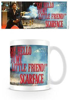 Taza Say Hello. Scarface Estupenda taza con la imagen de uno de los fotogramas del film Scarface (El precio del poder) 100% oficial y licenciada.