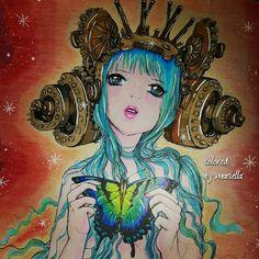 #popmangacoloringbook #camille d'errico #prismacolor #sharpie #coloring #coloringbook #coloringbooksforadults #pencils #pencil #art #colors #colorfull #colorful #manga #vividcolors #colorista colored by mariella