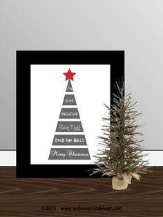 Christmas subway art printable print wall by WeLovePrintableArt, $5.00