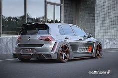 Incredible Oettinger VW Golf R500 with 518hp. incredible 3.4 seconds from zero to 100 and a top speed of more than 300 kilometers per hour:
