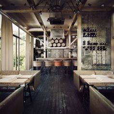 Now thats a home bar...      deVine restaurant  | by Behance Network | via kiyoaki