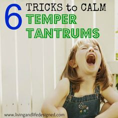 6 Tricks to Calm a Temper Tantrum. I'm saving this to read, good info and reminders to have on hand to calm tantrums!