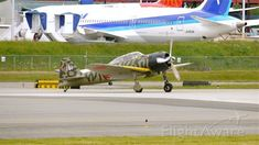 Flying Heritage Collection's Mitsubishi A6M3 ZERO taxis onto runway 16R for some air time on 6/6/12.