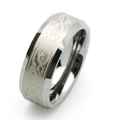 White Gold Men\'s Celtic Claddagh Wedding Ring | ♥ JEWELS ...
