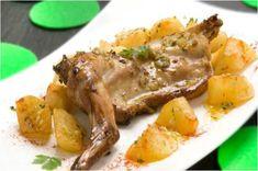 Conejo al ajillo, una receta tradicional en Castilla la Mancha. Una receta austera y barata que se lleva preparando durante siglos.