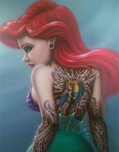 disney gothique | Gothic Ariel la petite siréne