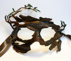 Growing Bark Leather Mask by AnnieLibertini on Etsy, $150.00