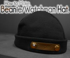 Do it Yourself (DIY) How to make Watchman/Beanie/Winter Hat Tutorial.