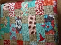 LOVE this colour combination - linen, aqua, red, pink and co-ordinates.