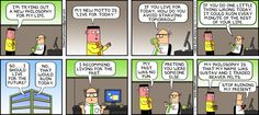 Dilbert comic strip for 01/05/2014 from the official Dilbert comic strips archive.