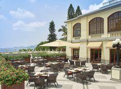 Elegant Outdoor Terrace Restaurant Dining at The Verandah