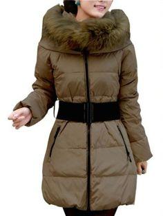 2012 Candy Colors Hot Womens Winter Hooded Duck Down Jacket Slim Long Coat Beige SZ. $139.99
