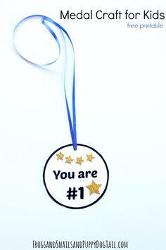 free printable medal craft for kids