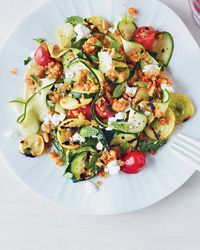 Raw and Charred Zucchini Salad Recipe