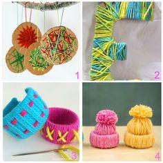 donneinpink magazine: Lavoretti per bambini con lana e cartone